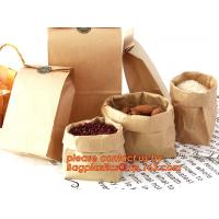 Buy cheap 70g food grade brown kraft paper bag with customized logo printing, Pinch Bottom Paper Bag, Greaseproof Paper Bag with from wholesalers