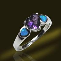 Buy cheap 2012 New 925 Sterling Silver Lab Created Opal Ring (RSB2439) from wholesalers
