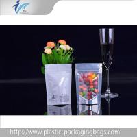 Buy cheap Heat seal ziplock top Stand Up Pouches with plastic candy packaging clear window from wholesalers