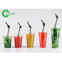 Buy cheap Large Hard Disposable Plastic Cups With Lids Highly Transparent Custom Logo from wholesalers