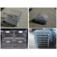 Buy cheap galvanized stainless steel welded Wire Mesh Container for warehouse storage from wholesalers