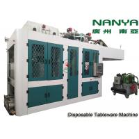 Buy cheap Automatic Biodegradable Bagasse Pulp Molding Equipment / Plate Making Machine from wholesalers