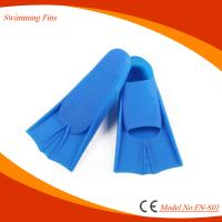 China Super Soft Diving Swim Fins , Full Footed Design Short Fin Flippers on sale