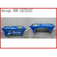 Buy cheap Promotional Outside Tension Fabric Displays , Washable Trade Show Table Covers from wholesalers