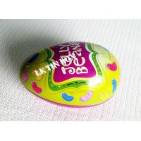 Buy cheap Egg Shaped Jelly Bean Tin Can For Easter Holiday , Decorative Tin Boxes from wholesalers