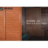 Buy cheap Solid Particle Board Wardrobe Sliding Door Aluminum Profile MDF Panel from wholesalers
