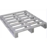Buy cheap Heavy Duty Metal Pallets Warehouse Equipments Standard Size 40 X 48 Grey Color from wholesalers