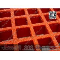 Buy cheap 38mm depth RED color Fiberglass Molded  Grating (ABS certificated) | China FRP Grating Supplier from wholesalers