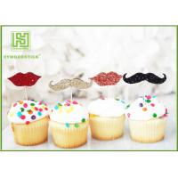 Buy cheap Little Man Mustache Cupcake Toppers Cake Decorating Tools 150mm Length from wholesalers
