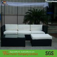 Buy cheap PE Rattan Outdoor Wicker Furniture , 3pcs Rattan Sofa Set With Sunshade from wholesalers