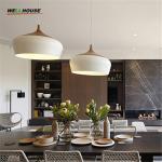 Buy cheap Modern pendant light Oak Wood lamp E27 socket wood lampholder Hanging light white black Optionally 300mm / 350mm from wholesalers