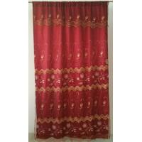 Quality organza embroidery curtain with fashion valance,with lining for sale