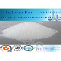 Fine White Ethyl Vanillin Chemical Food Additives CAS 121-32-4 Content 98.0% Min