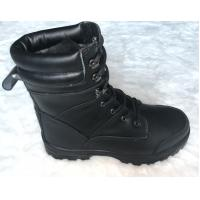 Buy cheap Pu / Rubber Outsole Army Safety Shoes High Cut Black Military Combat Boots from wholesalers