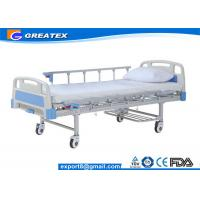 Buy cheap Durable Power Coated Steel Protable hospital adjustable beds for home with drainage hooks from wholesalers