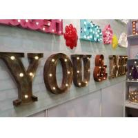 Buy cheap Vintage Rustic Wedding Letter Lights , Light Alphabet Letters For Wall Decoration from wholesalers