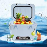 China 10L Rotomolded Blue Hard Shell Cooler with Bottle Opener,ruler marking,ice cooler bags,heavy duty, insulated cooler box on sale
