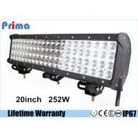 Buy cheap 20inch 252W Led Headlight Bar Quad Row CREE Crane Fire Engine Bar 4 Rows Led Bar from wholesalers