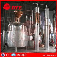 Buy cheap 5000 L Red Copper Grain Alcohol Distiller Dye Wine Distillery CE Approved from wholesalers