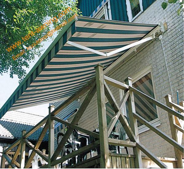 Waterproof uv resistance retractable balcony canopy for Balcony canopy