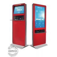 Buy cheap Floor standing Android OS wifi touch Kiosk Digital Signage LCD ad player / mobile phone charging station from wholesalers
