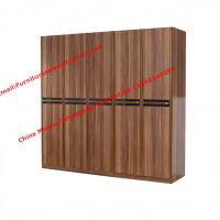 Buy cheap Luxury Aparment Bedroom Furniture by big pull out doors in wall Wardrobe in MDF from wholesalers