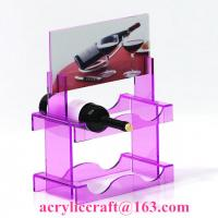 Buy cheap New style custom colorful PMMA wine rack China acrylic wine holder for retail from wholesalers