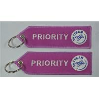Buy cheap Priority Skyteam Sky Team Fabric Embroidery Pilot Key Chains Key Ring Tag Chain from wholesalers