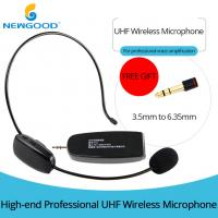Buy cheap UHF Universal Digital Over the Head with Noise Cancelling Microphone and removable ear hook ,Headset And Handheld 2 In 1 from wholesalers