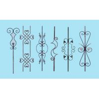 China Wrought Iron Elements/ Ornaments for balusters and gates--Forged balusters and newel post on sale