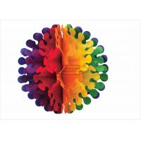 Buy cheap Unique Hanging Tissue Pom Pom Balls Honeycomb Garland Paper Decorations from wholesalers