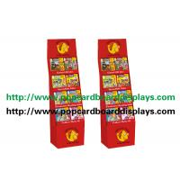 Buy cheap Recycled Paper Display Stands With Glossy Varnish For Magazine with red color from wholesalers