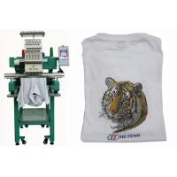 China Single Head 12 Needles Embroidery Machine For Baseball / T-shirt , Servo Motor on sale