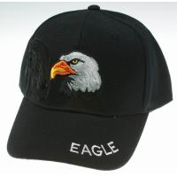 Buy cheap Custom Black Sports Caps Hats With 3d Embroidered Eagle Logo For Men 5-Panel Baseball Cap from wholesalers