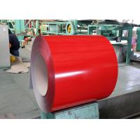 Buy cheap PVDF Pre Painted Steel Sheet , Color Coated Steel Plate For Construction Building Board from wholesalers