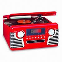 Buy cheap Retro Music Center with Turntable, CD, and AM/FM Analog Digital Radio from wholesalers