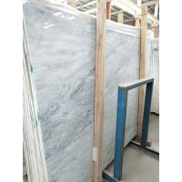 Buy cheap Striped Synthetic Marble Stone Slab , Solid Marble Slab With Blue Flower from wholesalers