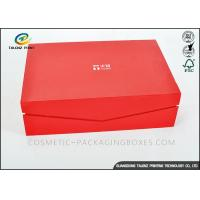 Buy cheap Crimson Custom High End Cardboard Gift Boxes For Clothes / Cosmetic from wholesalers
