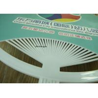 Buy cheap Handwork Craft Paper Folding Hand Fan 16.5x10.9' Large Round Plastic Handle from wholesalers