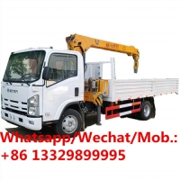 Buy cheap customized ISUZU brand 700P new mobile Japan truck with telescopic crane 5 ton for sale, cargo truck with crane boom from wholesalers