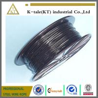 Buy cheap BLACK Vinyl Coated Wire Rope Cable 1/16 - 3/32 , 7x7 from wholesalers