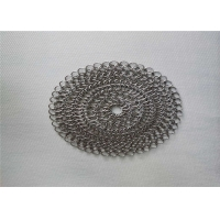 Buy cheap 6''X6'' Round BBQ Stainless Steel Chainmail Scrubber from wholesalers