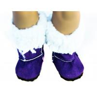 Buy cheap Purple White Fur Short Boots For 18 inch Doll , American Girl Doll Accessories from wholesalers