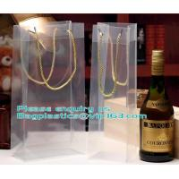 Buy cheap Transparent Plastic PP Shopping Handle Bag with Handle,clear white nylon handle PP/ PVC plastic bag for food packaging product