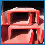 Buy cheap Prefabricated Steel U Shaped Steel Channel , Building Frames U Channel Steel, JIS standard, channel steel, roof building from wholesalers