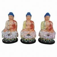 Buy cheap Religious Statues, Available in Resin Buddhas, with Light Color from wholesalers