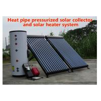 China 150-500 L Tank Heat Pipe Solar Water Heater Pressurized Solar Collector on sale