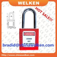 Buy cheap ABS Lock Body, 38mm Vertical Shackle Clearance, Keyed to Differ, Red Safety Padlock from wholesalers