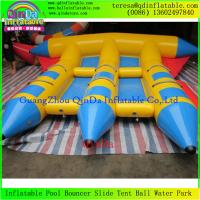 Buy cheap Professional Inflatable Fly Fish Boat Small Fly Fishing Banana Boats fFr Water Park Games from wholesalers