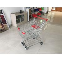 Buy cheap Red Wire Shopping Trolley With zinc plated clear coating 80L Asian Style from wholesalers